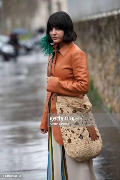 Stylist Maria Bernad wears all Loewe on March 01 2019 in Paris France