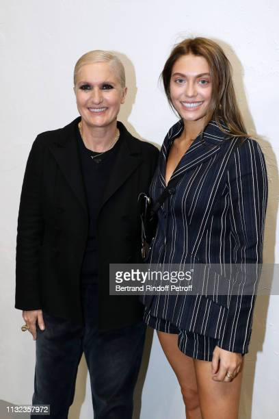 Stylist Maria Grazia Chiuri and Heloise Agostinelli pose after the Christian Dior show as part of the Paris Fashion Week Womenswear Fall/Winter...
