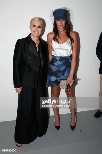 Stylist Maria Grazia Chiuri and Pauline Ducruet pose after the Christian Dior Haute Couture Fall Winter 2018/2019 show as part of Paris Fashion Week...