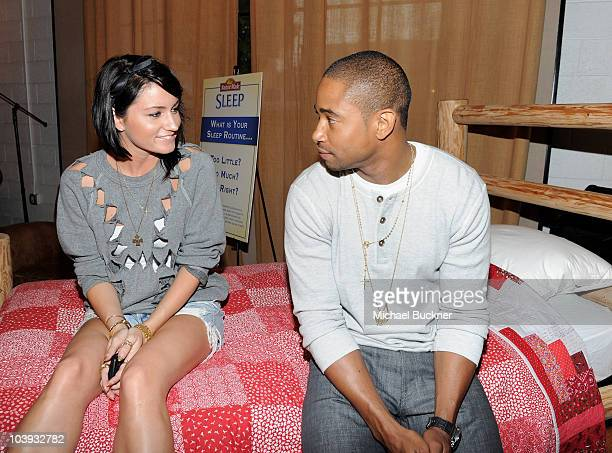 Stylist Mariel Haenn and actor Kevin Phillips attends the Nature Made Sleep Launch Event hosted by Kelly Rutherford on June 9 2010 in West Hollywood...