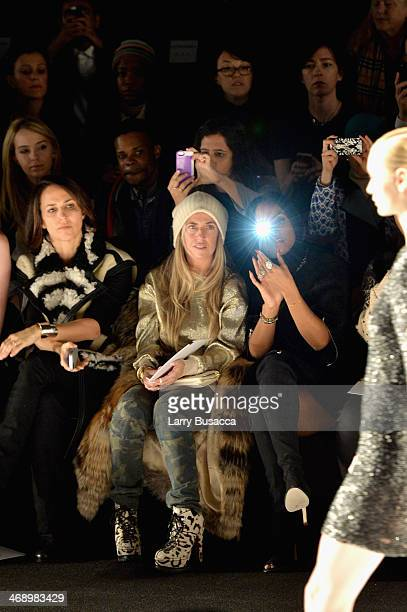 Stylist Marni Senofonte and singer Kelly Rowland attend the Kaufmanfranco fashion show during MercedesBenz Fashion Week Fall 2014 at The Theatre at...