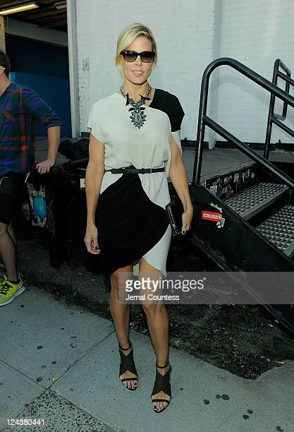 Stylist Mary Alice Stephenson arrives at the Jason Wu Spring 2012 fashion show during MercedesBenz Fashion Week at Center 548 on September 9 2011 in...