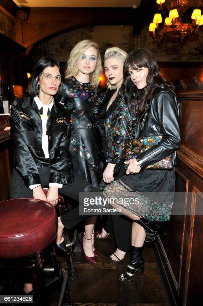 Stylist Maryam Malakpour actors Bella Heathcote Selma Blair and Chloe Grace Moretz attend the Coach Rodarte celebration for their Spring 2017...