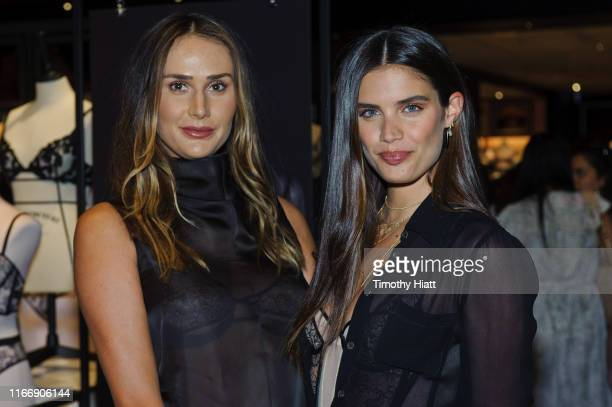 Stylist Mimi Cuttrell and Victoria's Secret Angel Sara Sampaio debuts new fall collection at Victoria's Secret N Michigan Ave on August 08 2019 in...