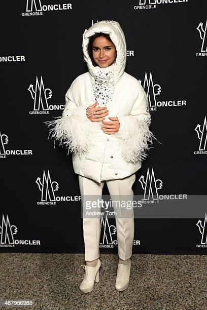 Stylist Miroslava Duma attends the Moncler Grenoble Fall 2014 Presentation at the Hammerstein Ballroom on February 8 2014 in New York City