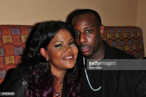 Stylist Misa Hylton and Rasul attend the 2010 Blackout Awards at the Key Club on March 21 2010 in Newark New Jersey