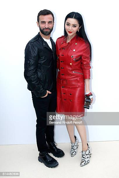 Stylist Nicolas Ghesquiere and Fan Bing Bing pose backstage after the Louis Vuitton show as part of the Paris Fashion Week Womenswear Fall/Winter...
