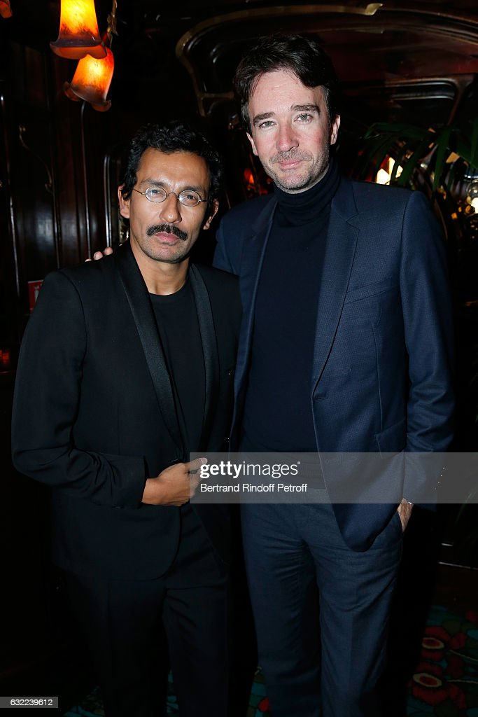Stylist of Berluti Men, Haider Ackermann and General manager of Berluti Antoine Arnault attend the Berluti Dinner as part of Paris Fashion Week - Menswear F/W 2017-2018. Held at Maxim's on January 20, 2017 in Paris, France.