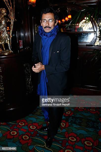 Stylist of Berluti Men Haider Ackermann attends the Berluti Dinner as part of Paris Fashion Week Menswear F/W 20172018 Held at Maxim's on January 20...