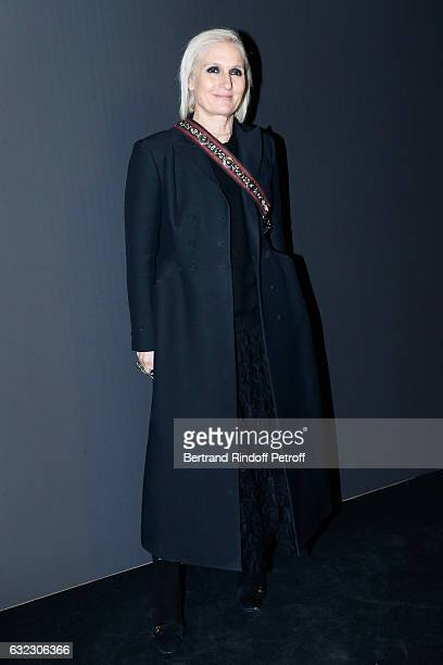 Stylist of Dior Maria Grazia Chiuri attends the Dior Homme Menswear Fall/Winter 20172018 show as part of Paris Fashion Week on January 21 2017 in...