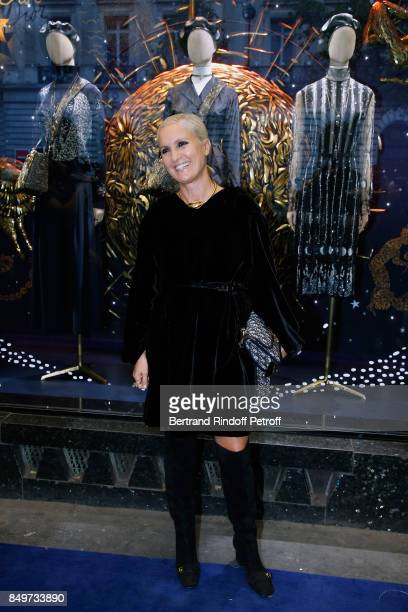Stylist of Dior Maria Grazia Chiuri attends the Inauguration of the Dior showcases at Galeries Lafayette for Christian Dior celebrates 70 Years of...