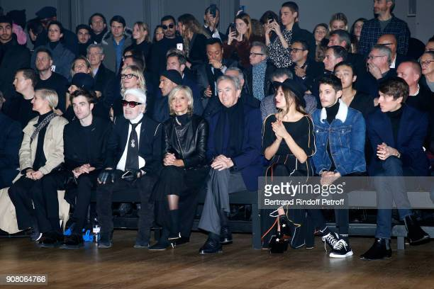 Stylist of Dior Woman Maria Grazia Chiuri Robert Pattinson Karl Lagerfeld Helene MercierArnault her husband owner of LVMH Luxury Group Bernard...