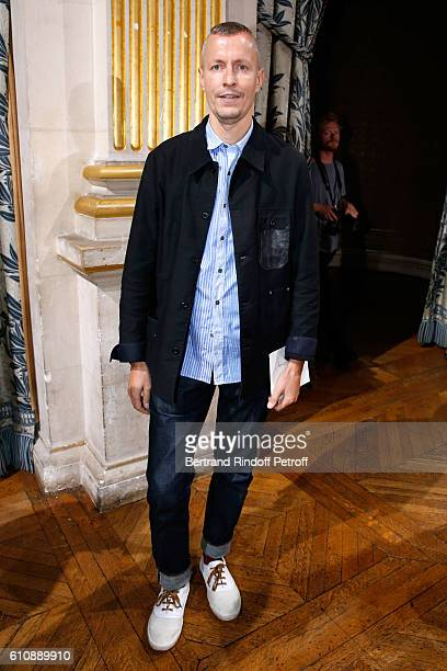 Stylist of 'Lanvin Men', Lucas Ossendrijver attends the Lanvin show as part of the Paris Fashion Week Womenswear Spring/Summer 2017. Held at Paris...