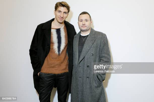 Stylist of Louis Vuitton Men Kim Jones and Actor Alan Cappelli pose Backstage prior the Louis Vuitton Menswear Fall/Winter 20172018 show as part of...