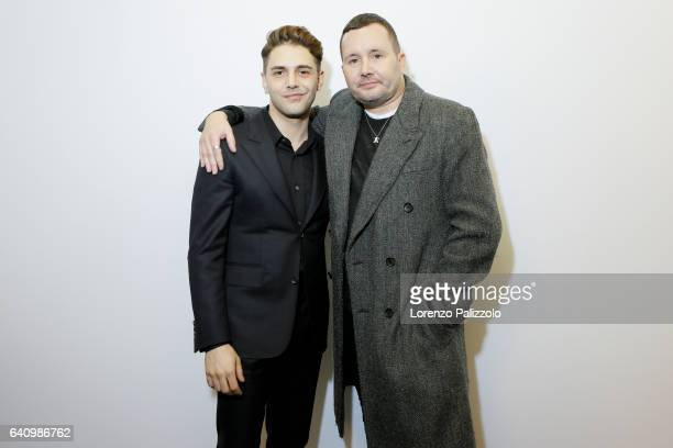 Stylist of Louis Vuitton Men, Kim Jones and Xavier Dolan pose Backstage prior the Louis Vuitton Menswear Fall/Winter 2017-2018 show as part of Paris...