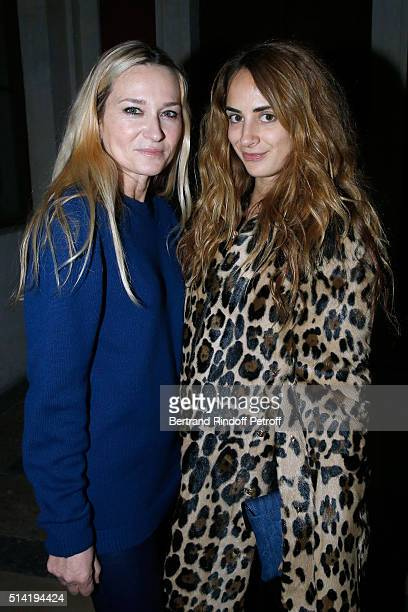 Stylist of Sonia Rykiel Julie de Libran and Alexia Niedzielski pose after the Sonia Rykiel show as part of the Paris Fashion Week Womenswear...