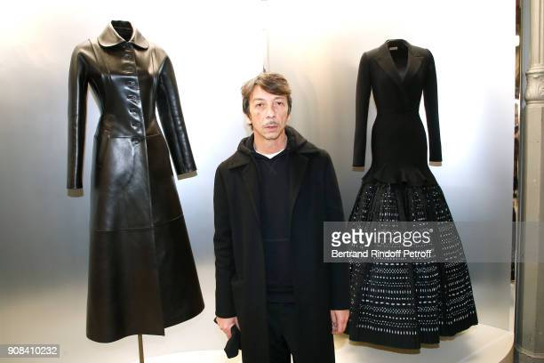 Stylist of Valentino Pierpaolo Piccioli attends the Azzedine Alaia Je Suis Couturier Exhibition as part of Paris Fashion Week Held at Azzedine Alaia...
