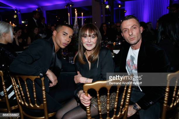 Stylist Olivier Rousteing Babeth Djian and stylist Alexandre Vauthier attend the Annual Charity Dinner hosted by the AEM Association Children of the...