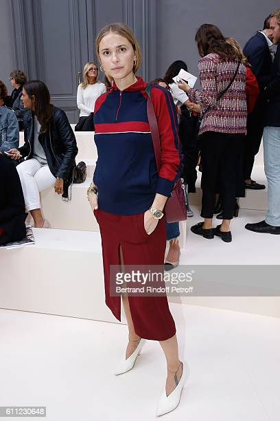 Stylist Pernille Teisbaek attends the Chloe show as part of the Paris Fashion Week Womenswear Spring/Summer 2017 on September 29 2016 in Paris France
