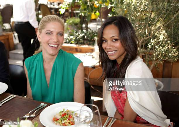 Stylist Petra Flannery and actress Zoe Saldana attend the The Hollywood Reporter Jimmy Choo Inaugural 25 Most Powerful Stylists Luncheon at Soho...