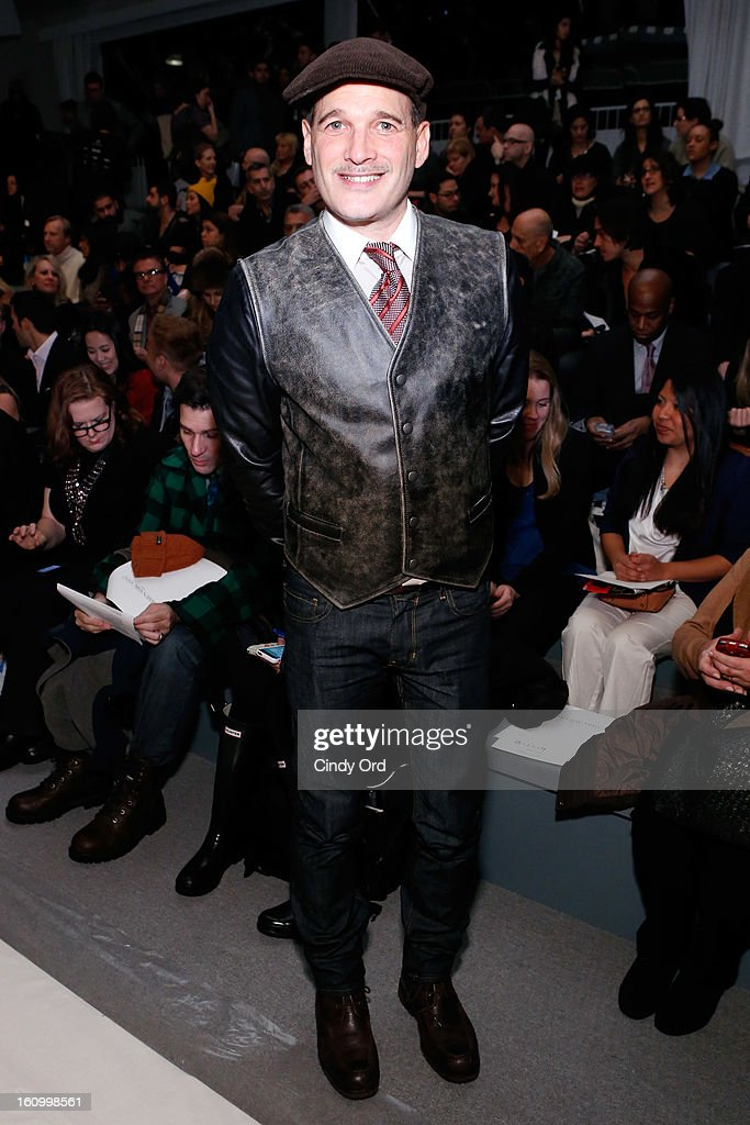 Stylist Phillip Bloch attends the Carmen Marc Valvo Fall 2013 fashion show during Mercedes-Benz Fashion Week at The Stage at Lincoln Center on February 8, 2013 in New York City.
