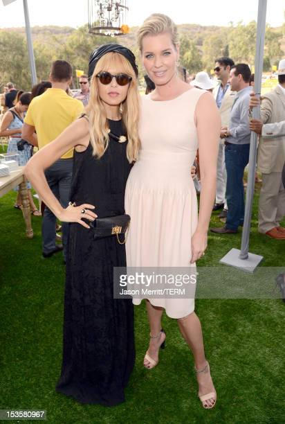 Stylist Rachel Zoe and actress Rebecca Romijn attend the Third Annual Veuve Clicquot Polo Classic at Will Rogers State Historic Park on October 6...
