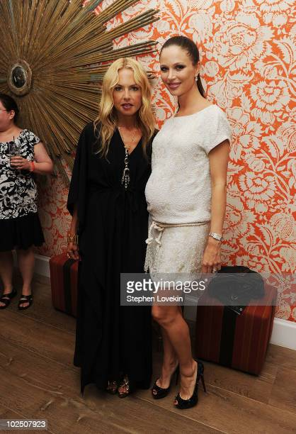 Stylist Rachel Zoe and actress/designer Georgina Chapman attend the after party for The Cinema Society Piaget screening of Twilight Saga Eclipse at...