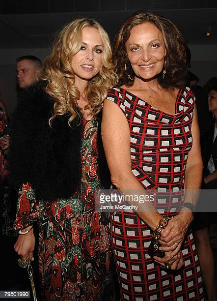 Stylist Rachel Zoe and designer Diane Von Furstenberg at the Diane Von Furstenberg Fall 2008 dinner party during MercedesBenz Fashion Week at Diane...