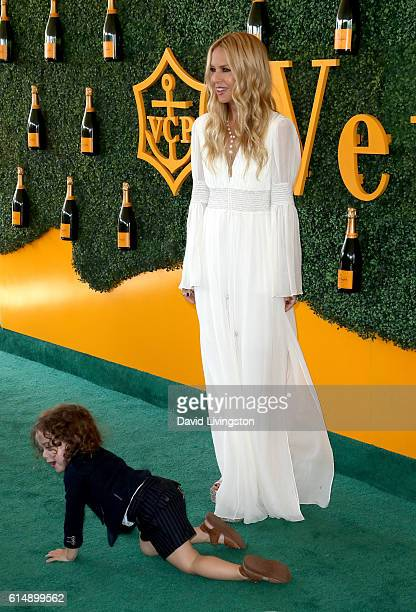 Stylist Rachel Zoe and Kaius Berman arrive at the 7th Annual Veuve Clicquot Polo Classic at Will Rogers State Historic Park on October 15 2016 in...