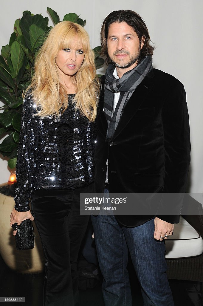 Stylist Rachel Zoe and Rodger Berman attend Dom Perignon and W Magazine's celebration of The Golden Globes at Chateau Marmont on January 11, 2013 in Los Angeles, California.