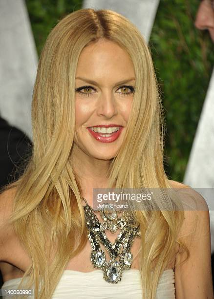 Stylist Rachel Zoe arrives at the 2012 Vanity Fair Oscar Party hosted by Graydon Carter at Sunset Tower on February 26 2012 in West Hollywood...