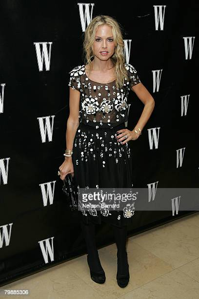 Stylist Rachel Zoe arrives at W Magazine's Hollywood Affair Pre Oscar Party held at the Sunset Tower Hotel Terrace on February 20 2008 in West...