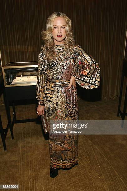 Stylist Rachel Zoe attends a private dinner in honor of Anri Sala at the Cartier Dome Miami Beach Botanical Garden on December 2 2008 in Miami Beach...
