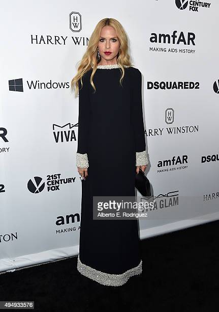 Stylist Rachel Zoe attends amfAR's Inspiration Gala Los Angeles at Milk Studios on October 29 2015 in Hollywood California