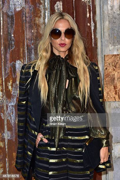 Stylist Rachel Zoe attends the Givenchy show during Spring 2016 New York Fashion Week at Pier 26 on September 11 2015 in New York City