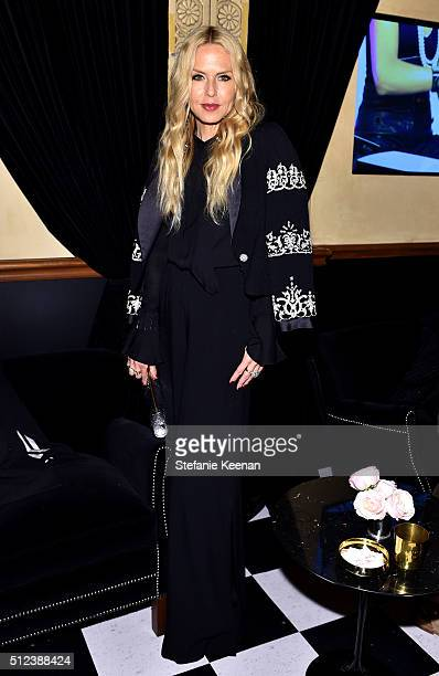 Stylist Rachel Zoe attends the I Love Coco Backstage Beauty Lounge at Chateau Marmont's Bar Marmont on February 25 2016 in Hollywood California