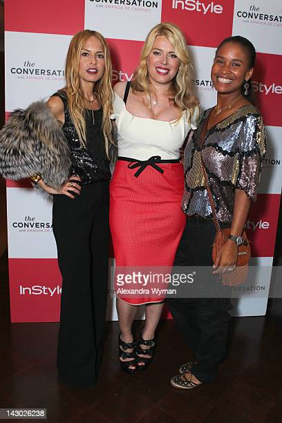 Stylist Rachel Zoe host/photographer Amanda de Cadenet and actress Joy Bryant arrive at InStyle's celebration and the launch of 'The Conversation...