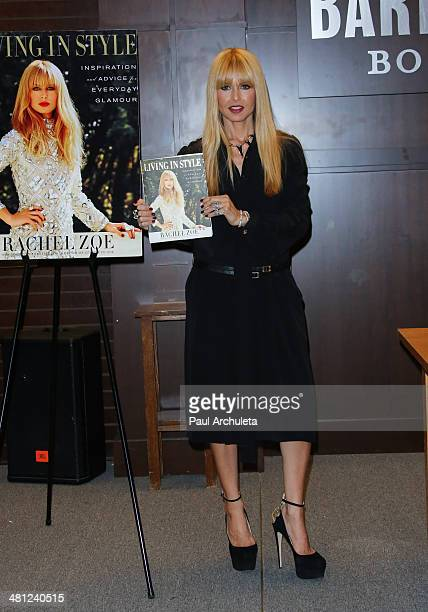 """Stylist Rachel Zoe signs copys of her new book """"Living In Style: Inspiration And Advice For Everyday Glamour"""" at Barnes & Noble bookstore at The..."""