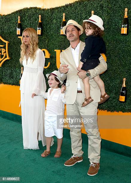 Stylist Rachel Zoe Skyler Berman Rodger Berman and Kaius Berman arrive at the 7th Annual Veuve Clicquot Polo Classic at Will Rogers State Historic...