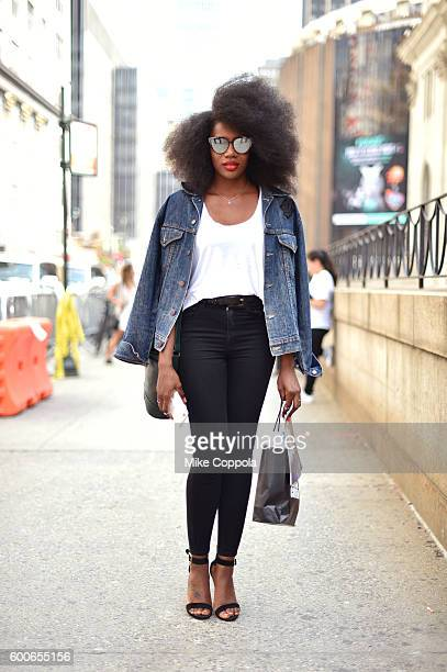 Stylist Raven Roberts seen around the September 2016 New York Fashion Week The Shows at Skylight at Moynihan Station on September 8 2016 in New York...