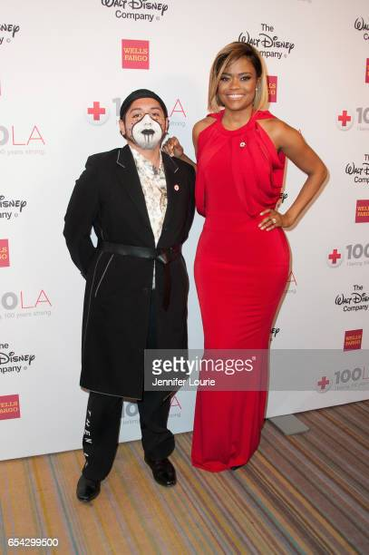 """Stylist Runningbear Ramirez and guest attend the American Red Cross Centennial Celebration to Honor Disney as the """"Humanitarian Company of The Year""""..."""