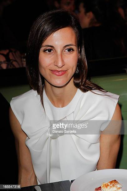 Stylist Samantha Traina attends Vogue's Triple Threats dinner hosted by Sally Singer and Lisa Love at Goldie's on April 3 2013 in Los Angeles...