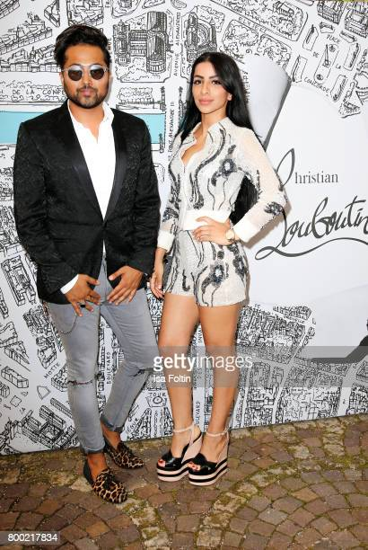 Stylist Samuel Sohebi and Nina ElMasoudi during the Christian Louboutin Store Opening on June 23 2017 in Munich Germany