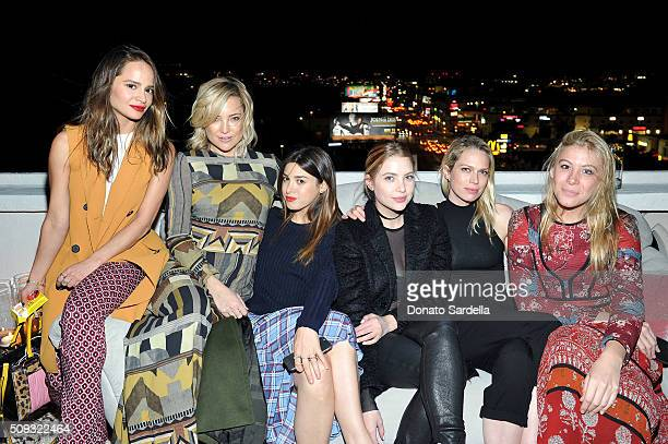 Stylist Sophie Lopez actress Kate Hudson stylist Jamie Schneider actress Ashley Benson Writer Erin Foster and a guest attend the Superga XO Jennifer...