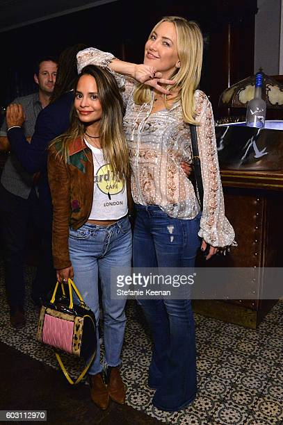 Stylist Sophie Lopez and actress Kate Hudson at the Jackie TIFF party hosted by GREY GOOSE Vodka and Soho House Toronto on September 11 2016 in...