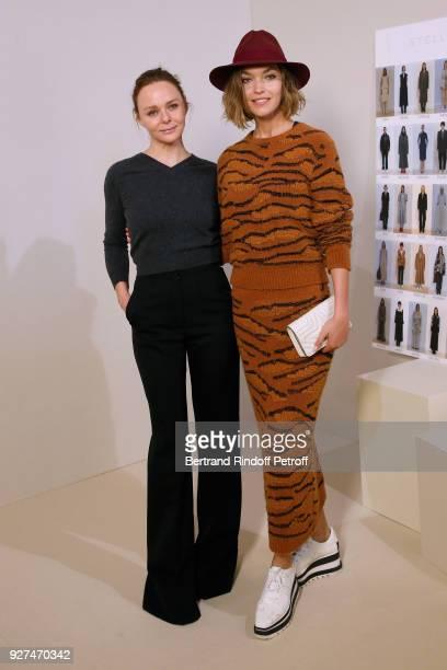 Stylist Stella McCartney and Arizona Muse pose after the Stella McCartney show as part of the Paris Fashion Week Womenswear Fall/Winter 2018/2019 on...