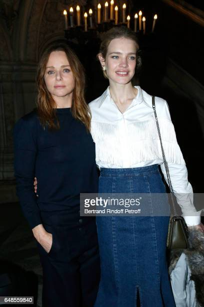 Stylist Stella McCartney and Natalia Vodianova pose after the Stella McCartney show as part of the Paris Fashion Week Womenswear Fall/Winter...