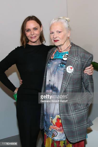 Stylist Stella McCartney and Vivienne Westwood pose after the Stella McCartney Womenswear Spring/Summer 2020 show as part of Paris Fashion Week on...