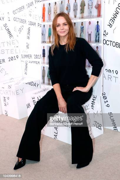 Stylist Stella McCartney poses after her show as part of the Paris Fashion Week Womenswear Spring/Summer 2019 Held at Opera Garnier on October 1 2018...