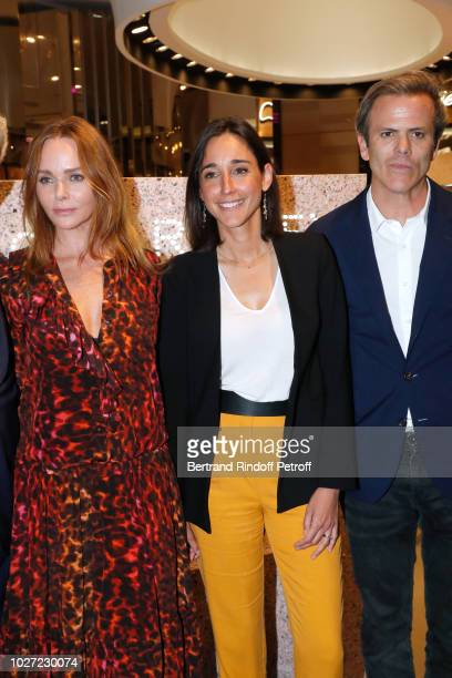Stylist Stella McCartney Secretary of State to the Minister of the Ecological and Solidarity Transition Brune Poirson and Director of Image...